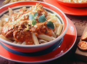 Italian Sausage and Pistachio Penne