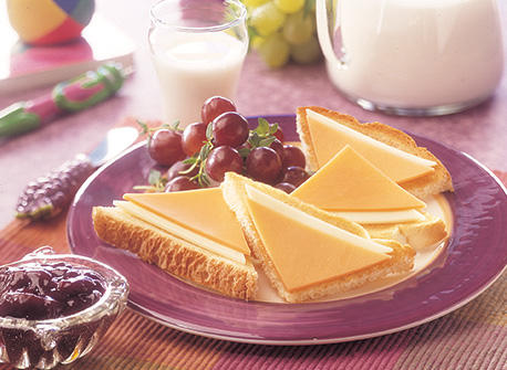 Double Cheese Toast Triangles Recipe