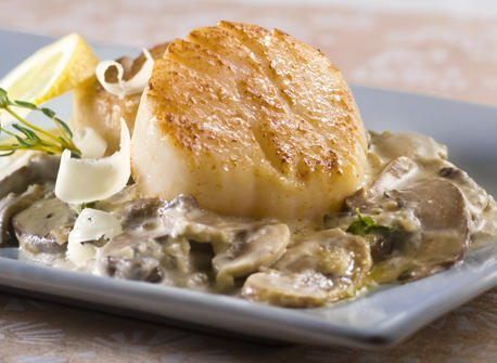Scallops with Wild Mushrooms and Canadian Whiskey Cream recipe | Dairy ...