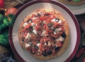 Feta Cheese and Prosciutto Pizza