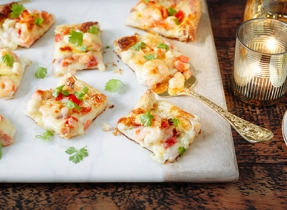 Festive Seafood Pizza