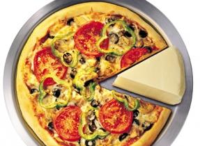 Grated Mozzarella Vegetarian Pizza