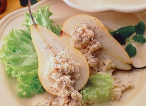 Blue Ermite Cheese Pears with Crab