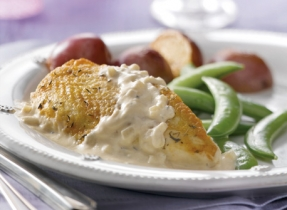 Roasted Chicken Breast with Thyme & Honey Cream