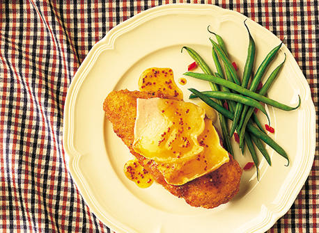 Canadian Brie-Topped Dijon Chicken Breasts Recipe