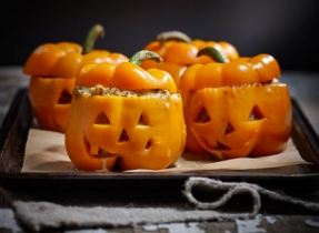 Devilish cheddar and pumpkin Peppers