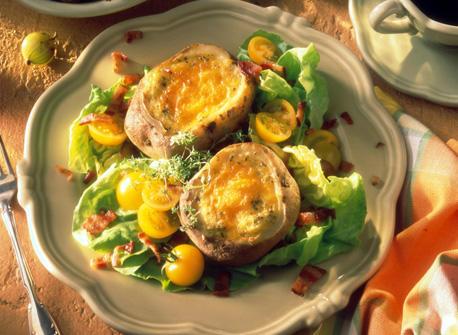 Potatoes with eggs Recipe