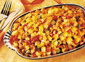 Cheddary Skillet Potatoes and Peppers