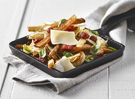 Pancetta & Cheddar roasted potatoes  Recipe