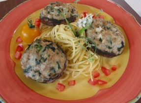 Portobello Mushrooms with Italian Stuffing