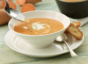 Sweet Potato Soup with Lime