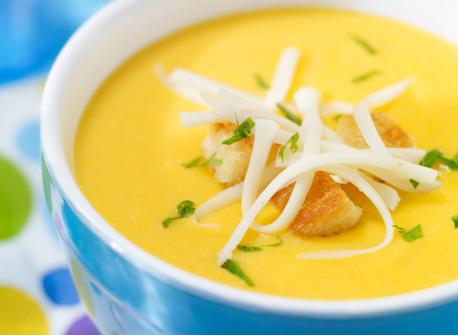 Golden Carrot Soup with Mozzarella Recipe