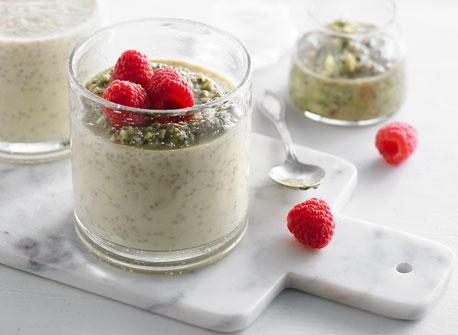Chia Pudding with Pistachio Pesto Recipe