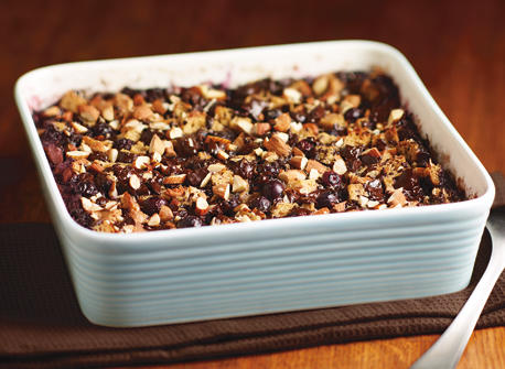 Blueberry & Dark Chocolate Bread Pudding Recipe