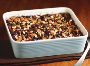 Blueberry & Dark Chocolate Bread Pudding