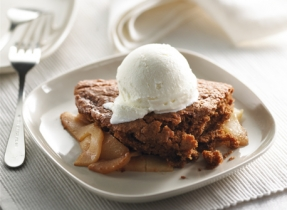 Apple Pear Gingerbread Cobbler