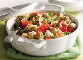 Lemon, Chicken, Feta and Orzo Casserole