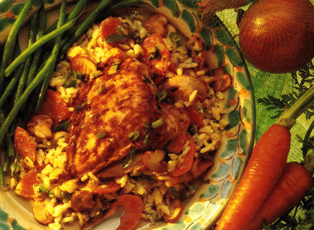 Chicken and Rice Casserole with Mushrooms Recipe
