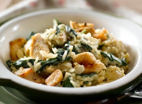 Chicken and Spinach Rice Pot