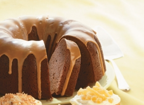 Chocolate Cream Cheese Pound Cake with Mocha Drizzle (Cooking Club Size)