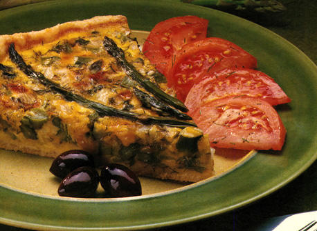 Asparagus Quiche with Cheddar Recipe