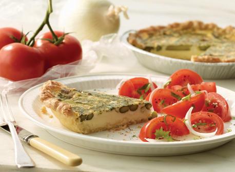 Asparagus and Parmesan Quiche Recipe