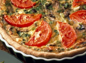 Mushroom and Maple Whole Wheat Quiche