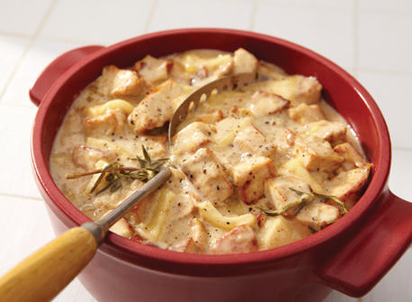Turkey and cider stew with Raclette Recipe
