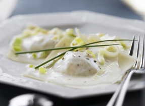 Seafood Ravioli Stuffed with Cheddar