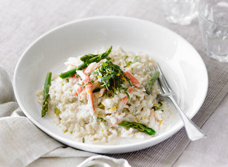 Asparagus and Crab Risotto recipe | Dairy Goodness