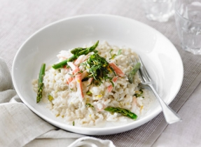 Asparagus and Crab Risotto