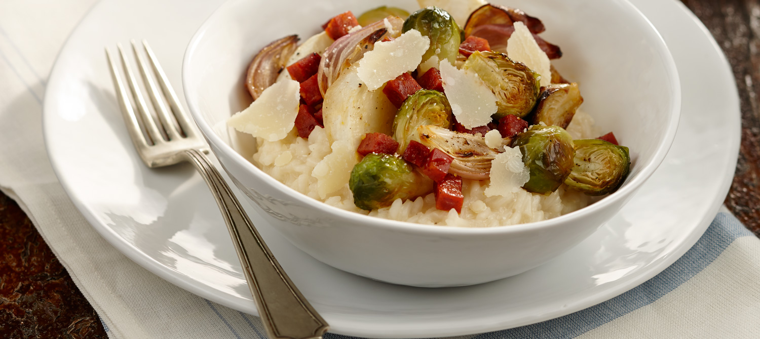 Bulgur Risotto with Brussels Sprout