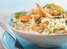 Spinach and Shrimp Risotto