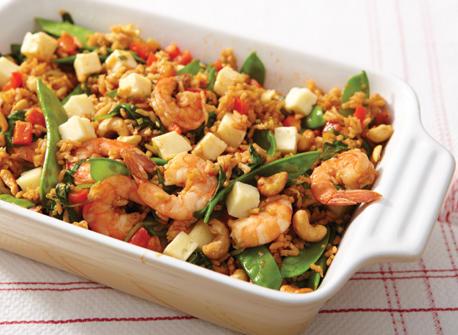 Shrimp fried rice with Havarti Recipe