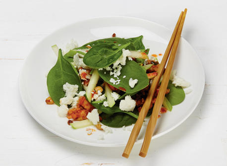 warm crispy asian salad with feta recipe dairy goodness. Black Bedroom Furniture Sets. Home Design Ideas
