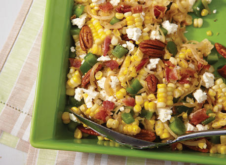 Corn, Bacon and Feta Salad  Recipe