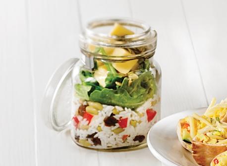 Monterey Jack mason jar salad Recipe