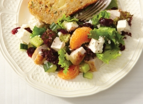 Cranberry-turkey salad with Feta