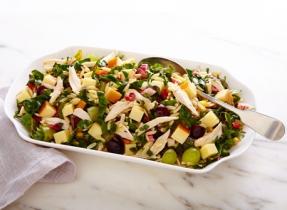 Cheddar orzo salad