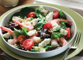 Couscous salad with shrimp and boursin®