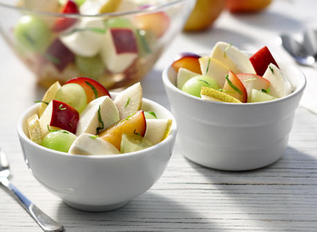 Fruit Salad with Bocconcini and tarragon Recipe