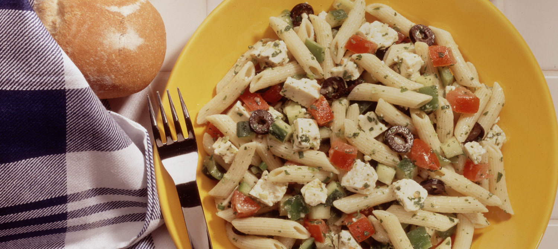 greek pasta salad recipe dairy goodness. Black Bedroom Furniture Sets. Home Design Ideas