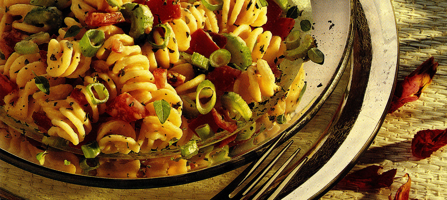 creamy pasta salad with bacon and tomato recipe milk
