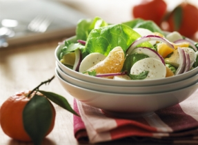 Tangerine and Red Onion Salad with Bocconcini