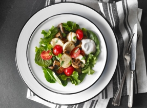Marinated Bocconcini, Mushroom and Tomato Salad
