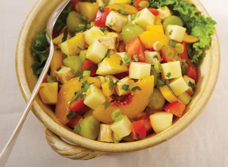 Easy curried chicken and Mozzarella salad  Recipe