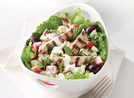 Greek Salad with Oregano Grilled Pork Recipe