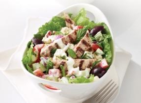 Greek Salad with Oregano Grilled Pork