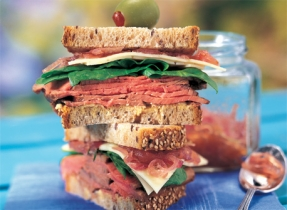 Roast Beef Sandwich with Onion Confit and Havarti