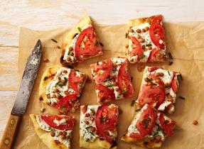Tomato and Ricotta Open-Face Sandwich